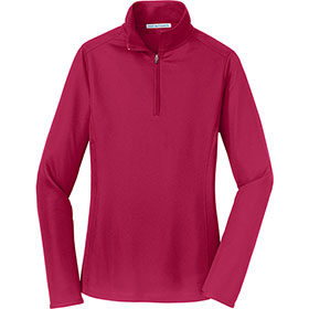 P/A Sweat Ladies Pinpoint Mesh 1/2 Zip