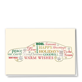 Premium Foil Holiday Cards - Automotive Greetings