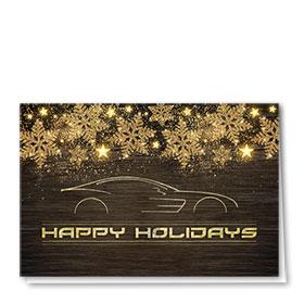 Premium Foil Holiday Cards - Golden Glisten