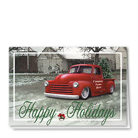 Double Personalized Full-Color Holiday Cards - Classic Pickup