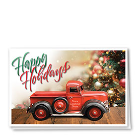 Double Personalized Full-Color Holiday Cards - Toy Truck