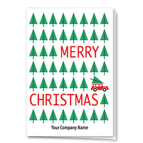 Double Personalized Full-Color Holiday Cards - Tiny Trees