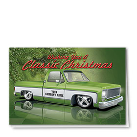 Double Personalized Full-Color Holiday Cards - Classic Lowrider