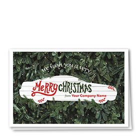 Double Personalized Full-Color Holiday Cards - Christmas Hedge