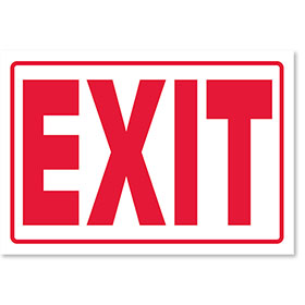 Clearance  - Small Signs for Your Business - Exit