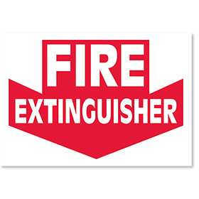 Clearance  -Small Signs for Your Business - Fire Extinguisher
