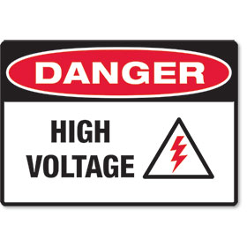 Clearance  -Danger High Voltage