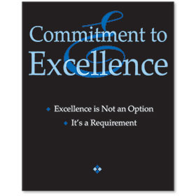 Acrylic Office Sign - Commitment to Excellence