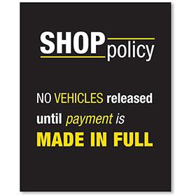 Sign Contemporary - No Vehicles