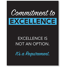 Contemporary Signs - Commitment to Excellence