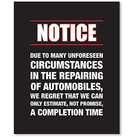 Contemporary Signs - Notice - Version 1