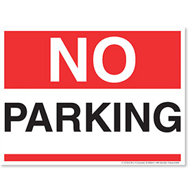 Clearance  - No Parking Sign