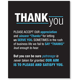 Sign Contemporary - Thank You