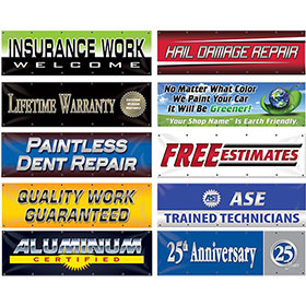 Large Auto Shop Banners 6' x 2'