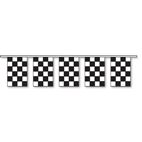 Rectangular Pennant Strings - Checkered Flag