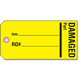 Hold / Damaged Auto Parts Tags