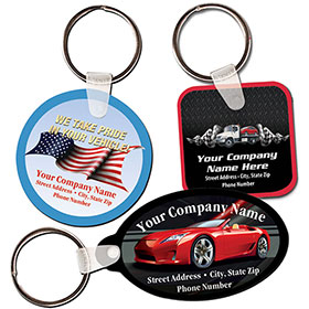 Custom Full-Color Key Tag with Colored Background