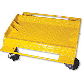 Yellow Car Dolly with 2,800-lb. Capacity & Swivel Steel Casters
