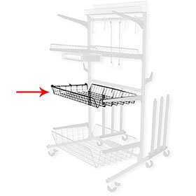 "Parts Caddy PRO Medium Shelf - 4"" Deep"
