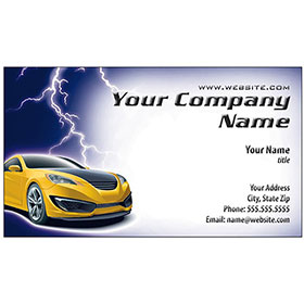 Full-Color Auto Repair Business Cards - White Lightning
