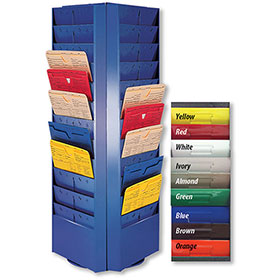 Colored Rotating Racks - 48 Pocket (3 Sided)