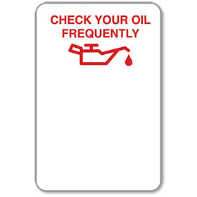 Auto Body Check Your Oil Frequently Stickers - Red Oil Can