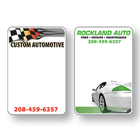 White Custom Service Sticker Label