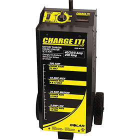 CHARGE IT! 12-Volt Wheel Battery Charger 200 Amp