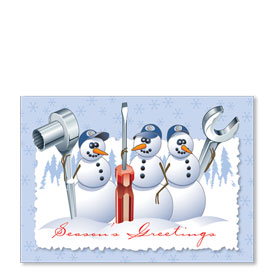 Personalized Full-Color Holiday Postcard - Tool Team