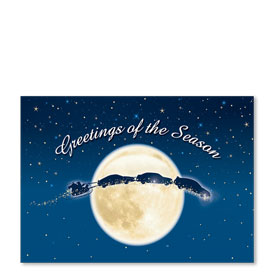 Personalized Full-Color Holiday Postcard - Light of the Moon
