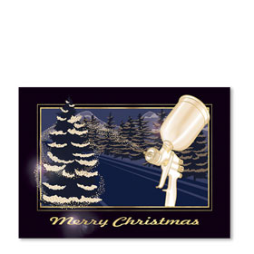 Personalized Full-Color Holiday Postcard - Snow Spray