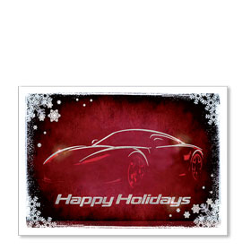 Personalized Full-Color Holiday Postcard - Sports Car
