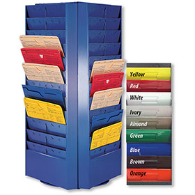 Colored Rotating Racks - 48 Pocket (4 Sided)