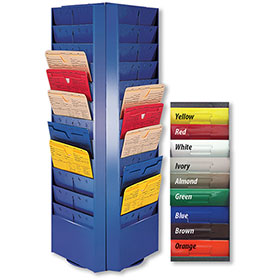 Colored Rotating Racks - 72 Pocket (4 Sided)