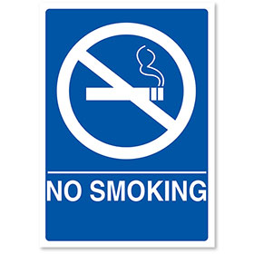 "ADA Compliant Signs - No Smoking 7"" X 10"""