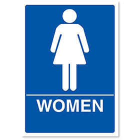 "ADA Compliant Signs - Women 7"" X 10"""