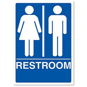 "ADA Compliant Signs - Restroom 7"" X 10"""
