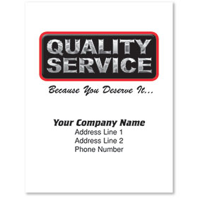 Large Paper Floor Mats - Quality Service -Imprint