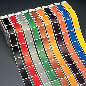 "1/2"" Solid Color Bar Labels Refill"