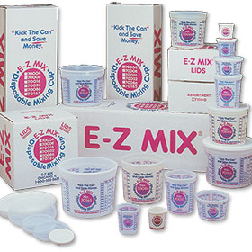 E-Z Mix 1 Quart Plastic Cups (Case of 100)