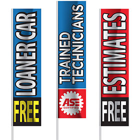 "Big Kahuna Vertical Flags - 30"" x 14'"