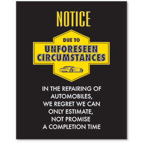 Contemporary Signs - Notice