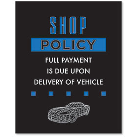 Contemporary Signs - Shop Policy