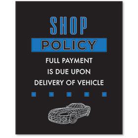 Contemporary Signs - Shop Policy