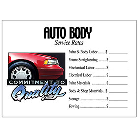 Commitment to Quality Signs - Auto Body