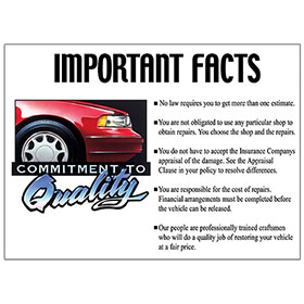 Commitment to Quality Signs - Important Facts