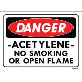 "Shop Sign – 14"" x 10"" Sign - Acetylene"
