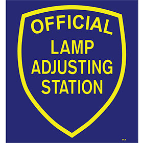 Auto Shop Signs - Lamp Adjusting Station - Double Face
