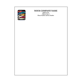 Automotive Business Letterhead (250) - Stacked Car