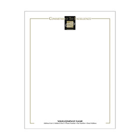 Automotive Business Letterhead (250) - Wire Frame Black/Gold
